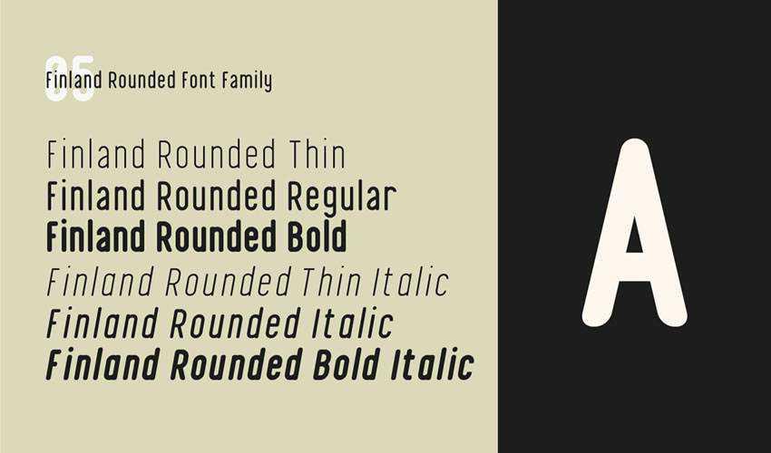 Finland Geometric free minimal font design typecase typography