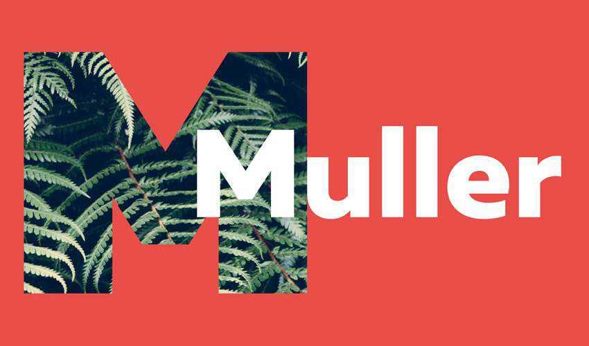 Muller free minimal font design typecase typography
