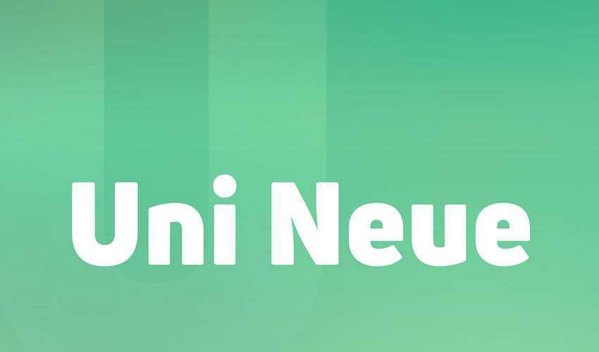 Uni Neue free minimal font design typecase typography