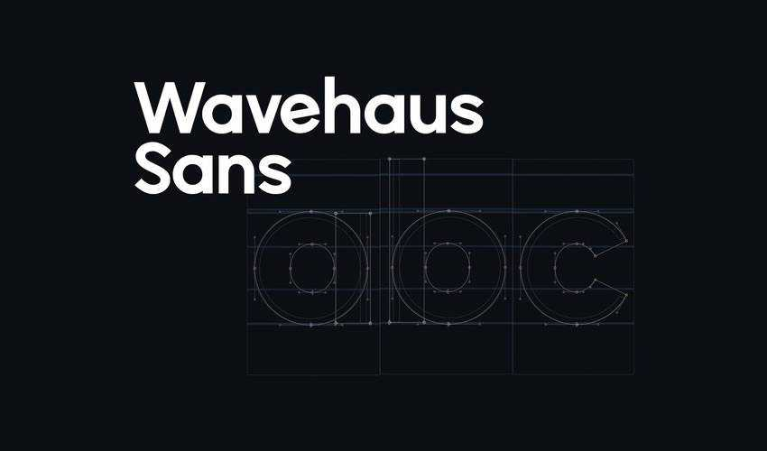 Wavehaus Sans free minimal font design typecase typography