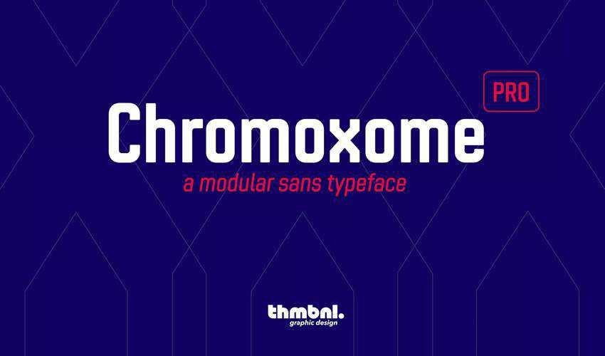 Chromoxome Pro free minimal font design typecase typography