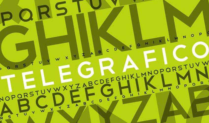 Telegrafico Sans-Serif free minimal font design typecase typography