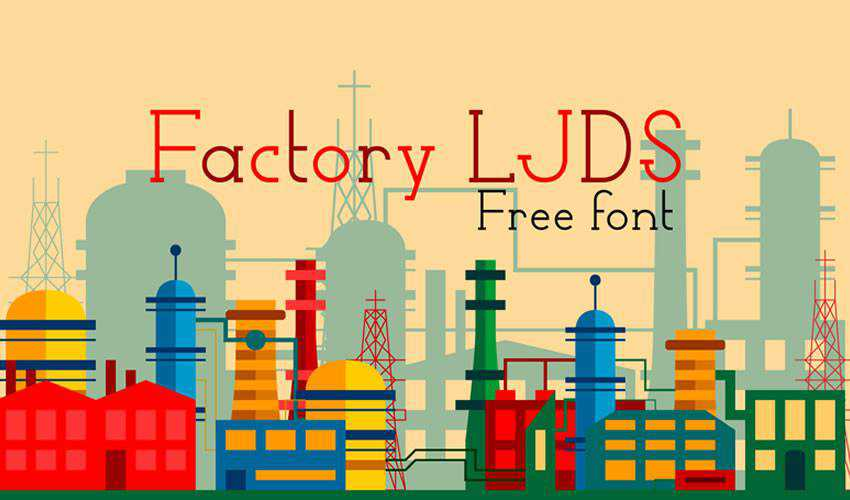 Factory LJDS free minimal font design typecase typography