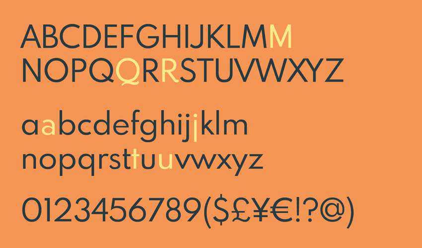 partan MB Modern Geometric free minimal font design typecase typography