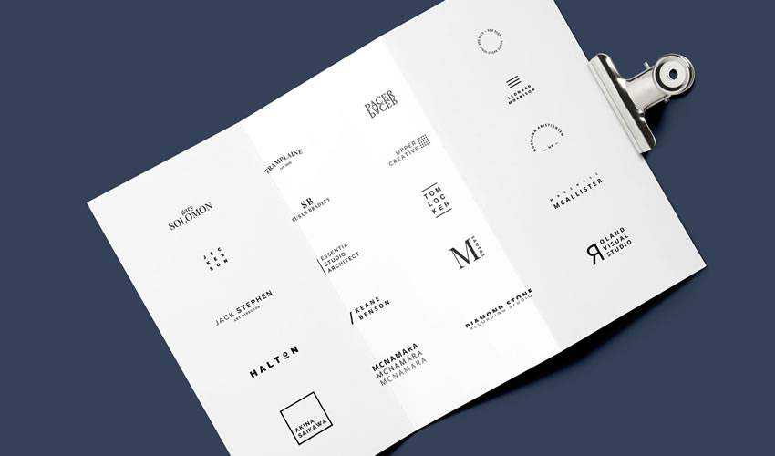 20 Minimalista minimal ai illustrator psd photoshop free logo template brand collection pack