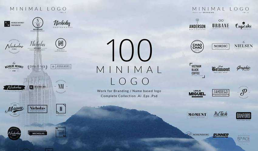 Free Collections of Minimally Designed Logo Templates (100+