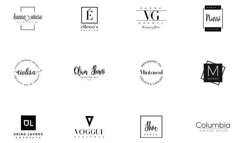 20 minimal ai illustrator free logo template brand collection pack