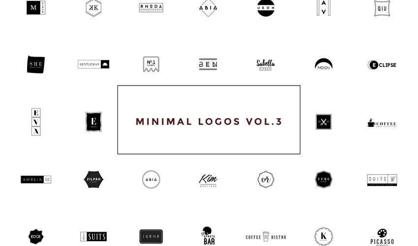 50 minimal ai illustrator psd photoshop logo template brand collection pack