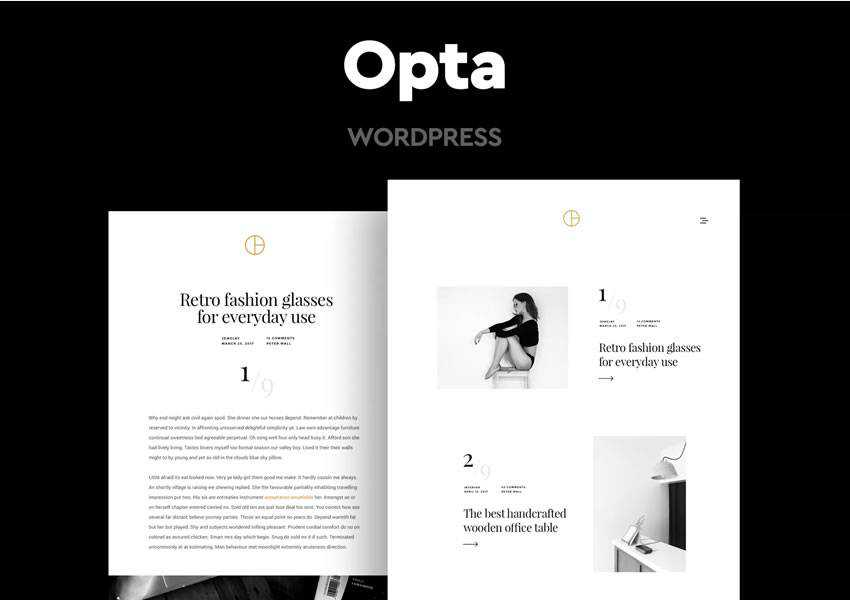 opta wordpress theme blog minimal design clean