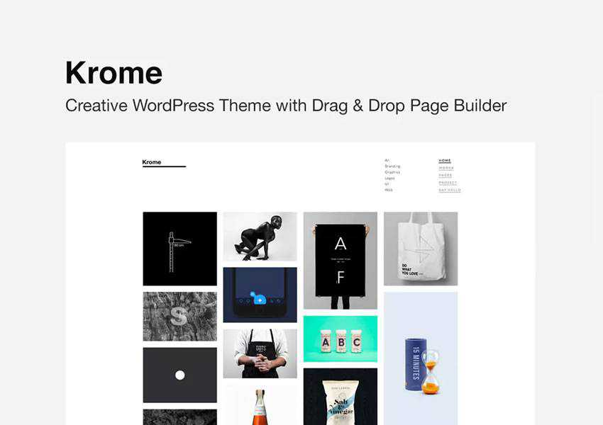 krome wordpress theme blog minimal design clean