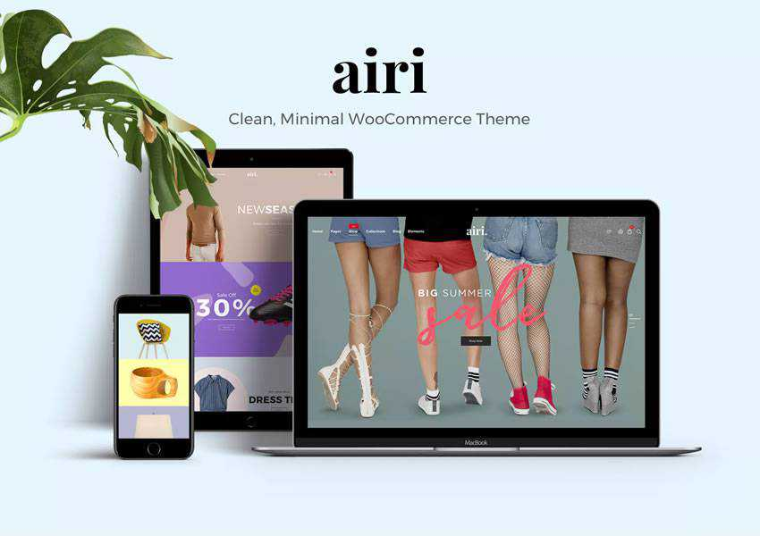 airi WooCommerce wordpress theme blog minimal design clean