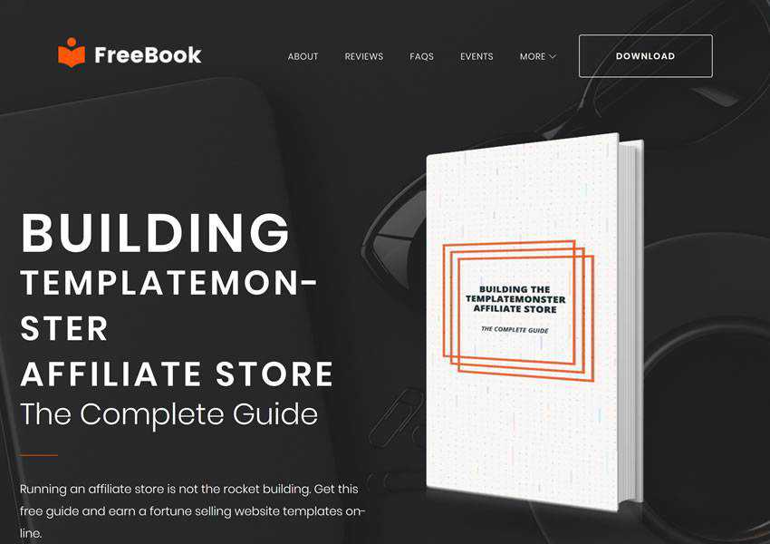 FreeBook Ebook Landing Pag free wordpress theme wp responsive one-page single page scroll