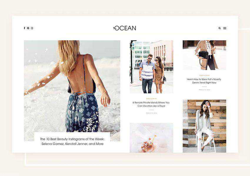Ocean Exquisite wordpress theme personal blog blogger blogging