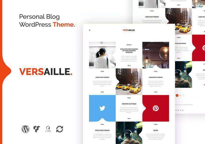Versaille wordpress theme personal blog blogger blogging