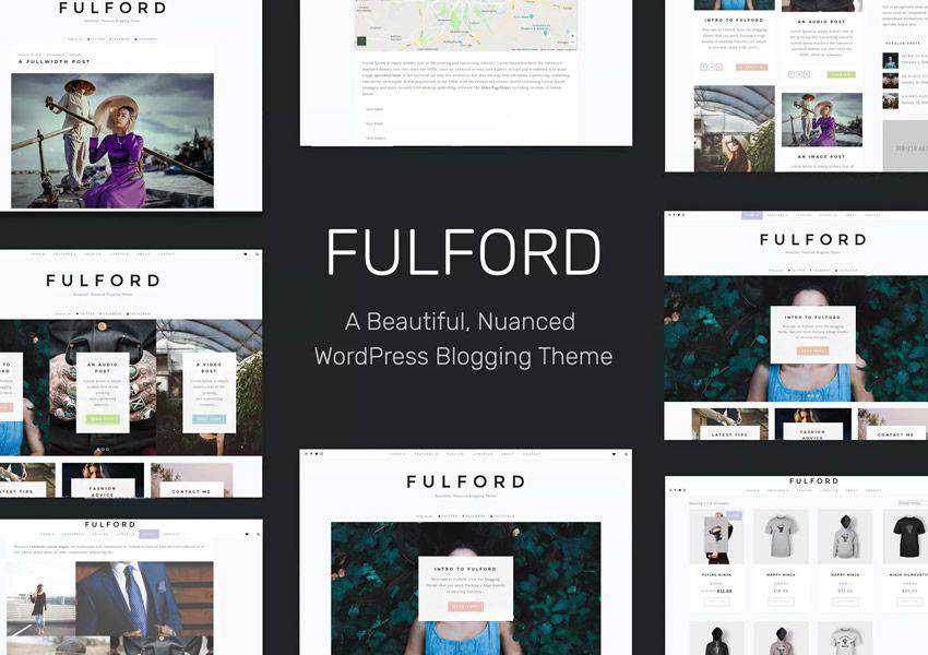 Fulford wordpress theme personal blog blogger blogging