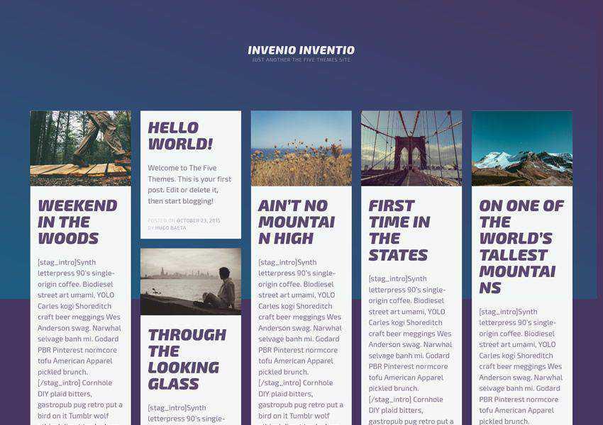 Invenio Tumblog-Style free wordpress theme wp responsive personal blog blogger blogging