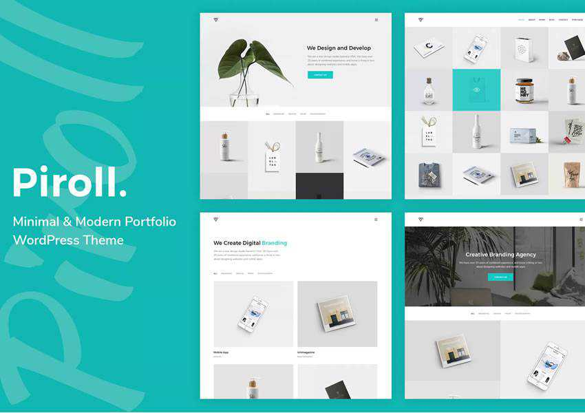 Piroll Portfolio wordpress theme photographer portfolio camera