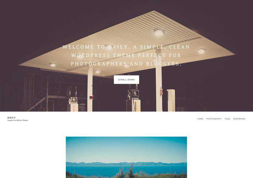 daily free wordpress theme wp responsive photographer portfolio camera