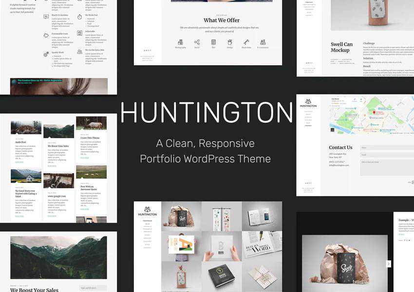 Huntington Responsive wordpress theme creative designer agency portfolio camera