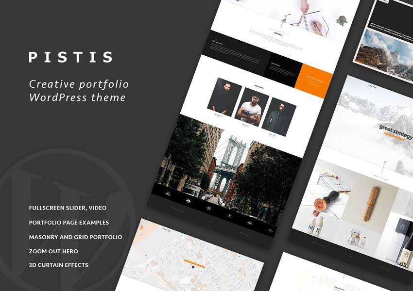 Pistis wordpress theme creative designer agency portfolio camera