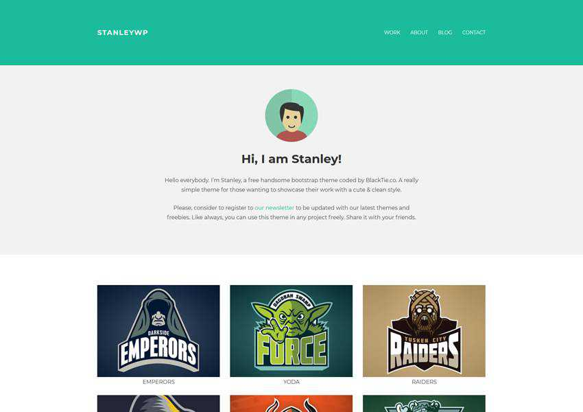 StanleyWP Bootstrap free wordpress theme wp responsive creative designer agency portfolio camera