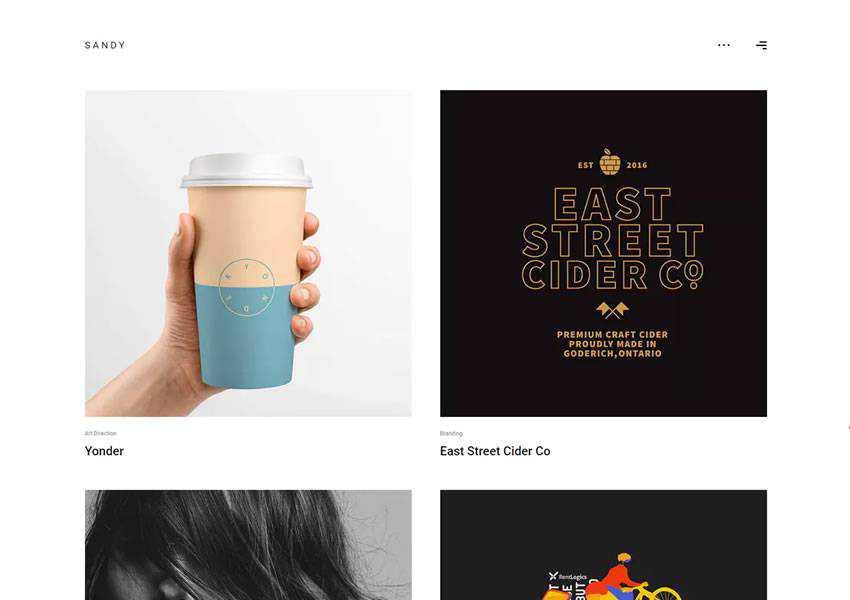 Sandy wordpress theme creative designer agency portfolio camera