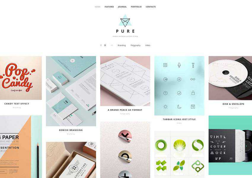 Pure free wordpress theme wp responsive creative designer agency portfolio camera