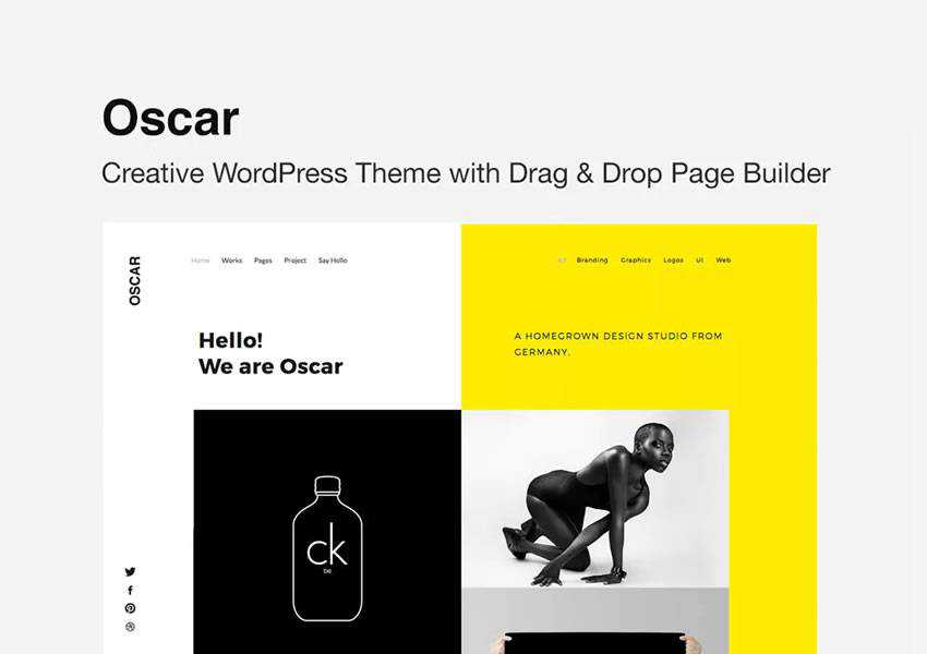 Oscar agency wordpress theme creative designer agency portfolio camera