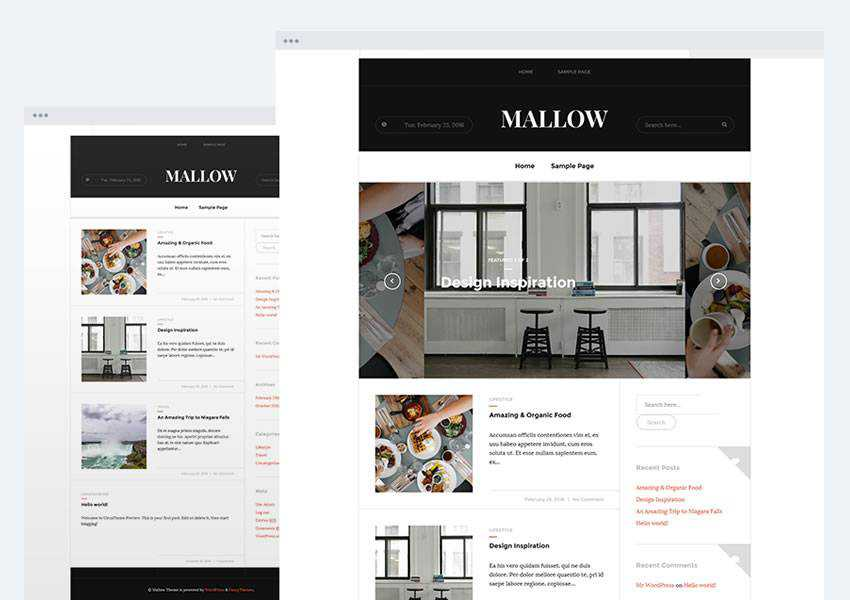 mallow magazine free wordpress theme wp responsive template blog writer longform article