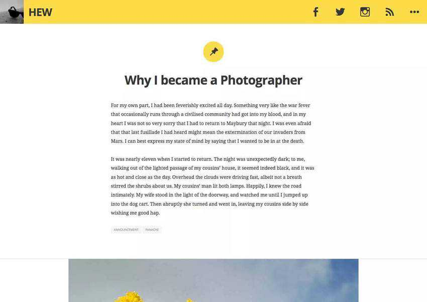 hew personal blogging free wordpress theme wp responsive template blog writer longform article