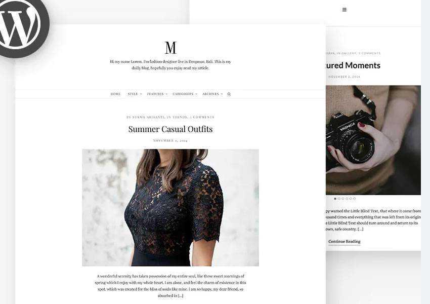 Minimy Clean Personal Blog wordpress theme template blog writer longform article