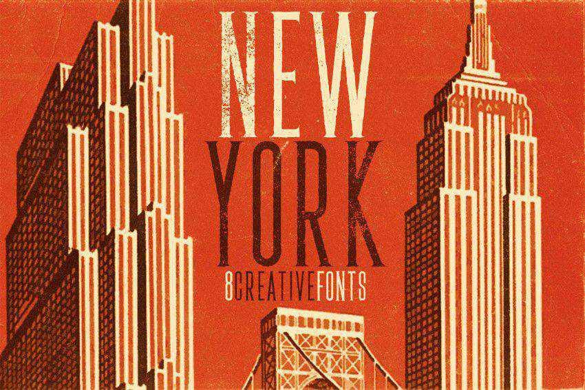 New York Font title headline font
