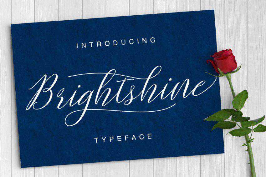 Brightshine Typeface title headline font