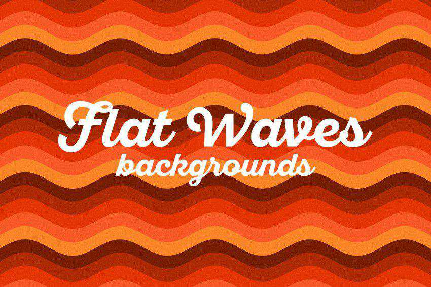 Flat Waves Backgrounds