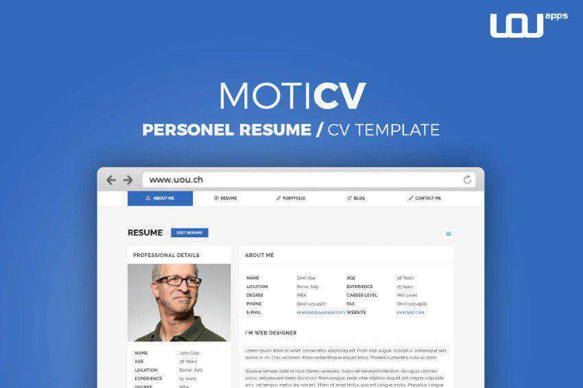 10 Free Professional Html Css Cv Resume Templates