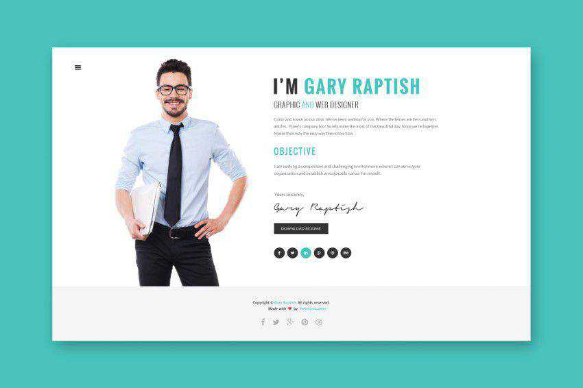 Raptish html template html5