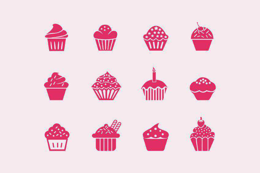 12 Cupcake Icons