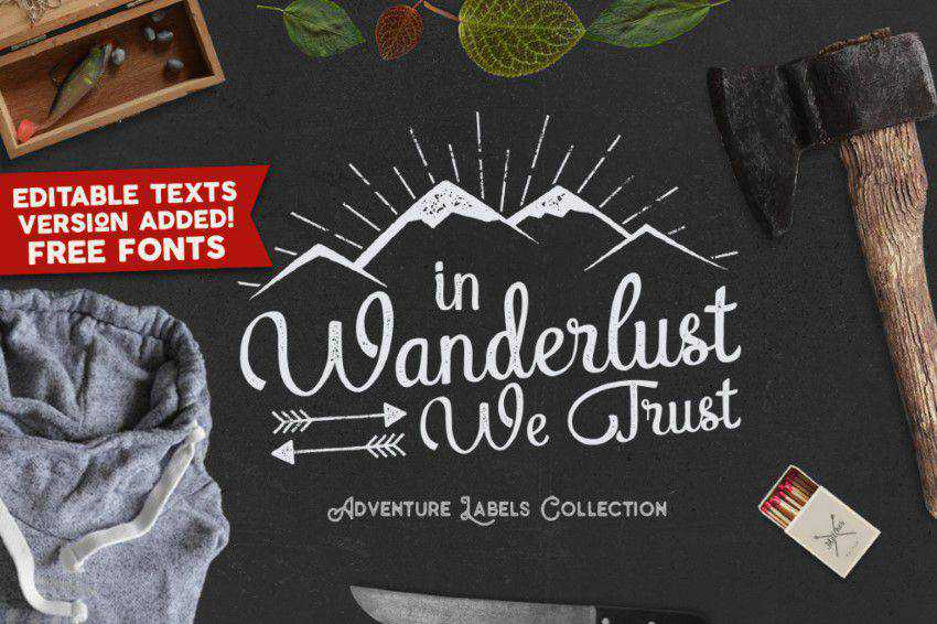 Great Adventure Vintage Logo Templates / Labels