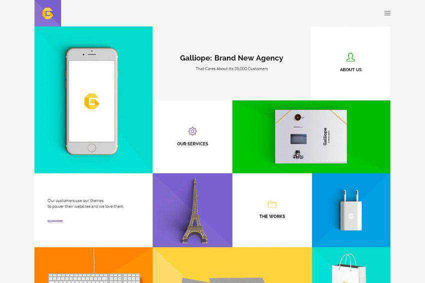 modern minimal design web site inspiration example Galliope
