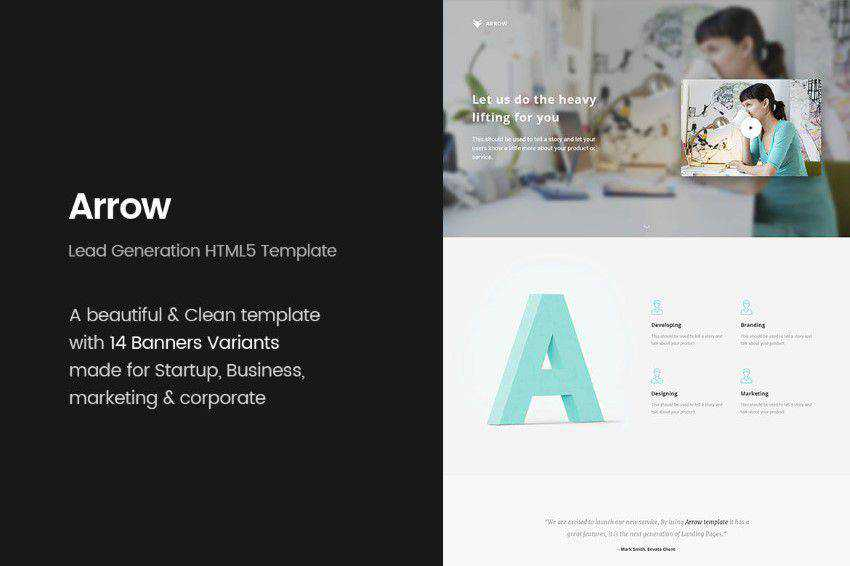 modern minimal design web site inspiration example Arrow
