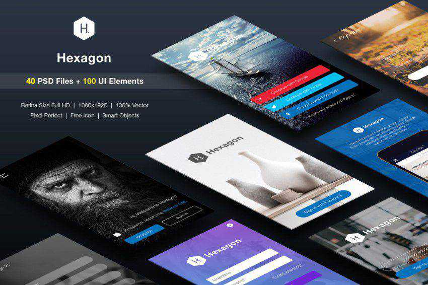 Top 50 Free Mobile UI Kits for iOS & Android for 2019