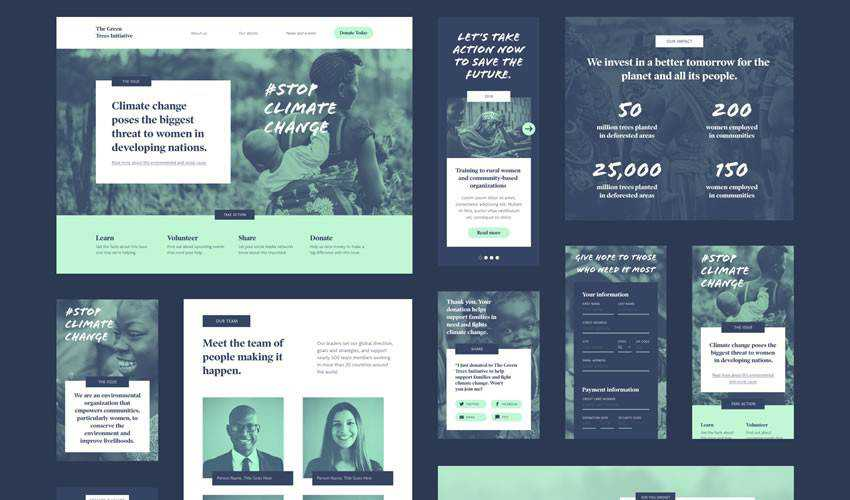 UI Kit non-profit charity website web design inspiration ui ux