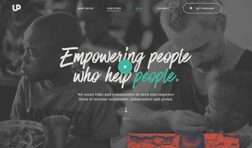Upstream International non-profit charity website web design inspiration ui ux