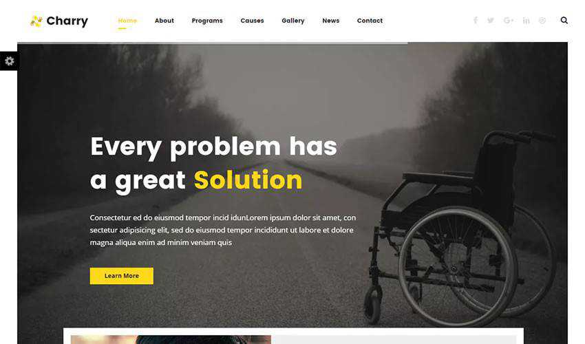charry Template non-profit charity website web design inspiration ui ux