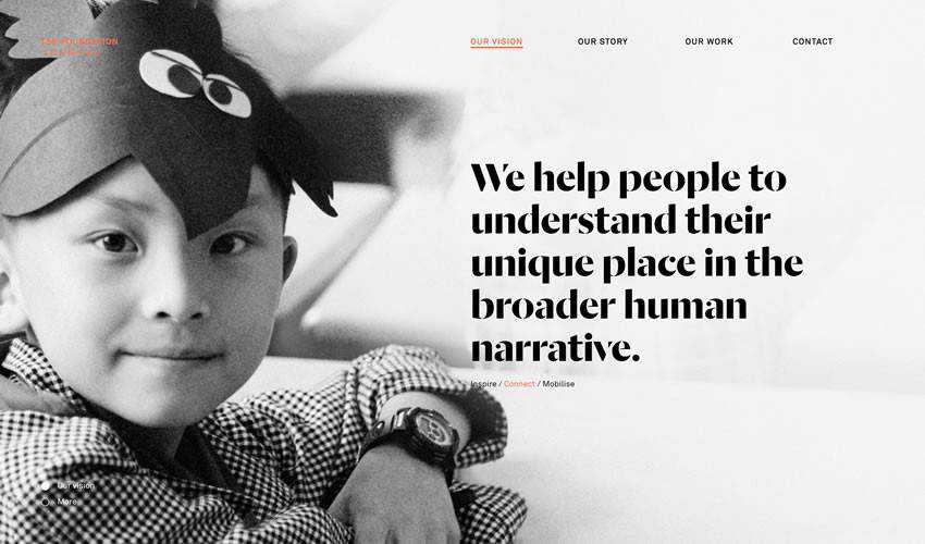 Tse Foundation non-profit charity website web design inspiration ui ux