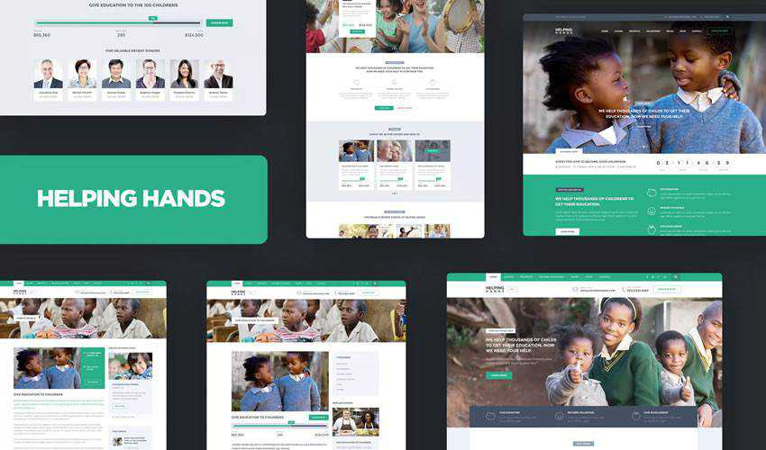 Helping Hands HTML Template non-profit charity website web design inspiration ui ux