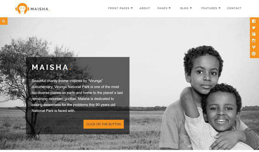Anariel Design Maisha non-profit charity website web design inspiration ui ux