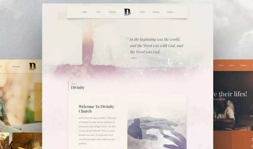 Divinity Bootstrap Template non-profit charity website web design inspiration ui ux