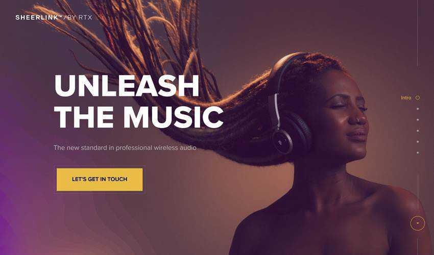 Sheerlink one-page single-page website web design inspiration ui ux