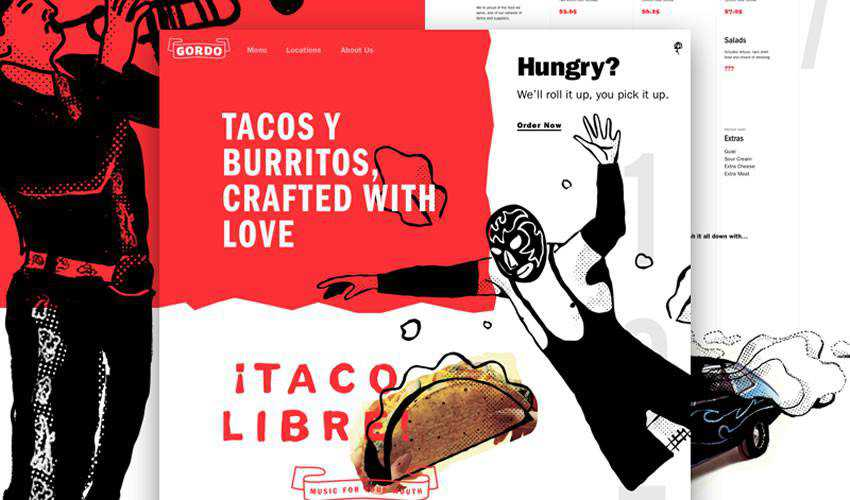 Gordo Taqueria one-page single-page website web design inspiration ui ux